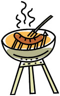 Family Shabbat SH'BBQ - Special Night! @ Congregation B'nai Tikvah - (we will let you know which room before hand – look for announcement)