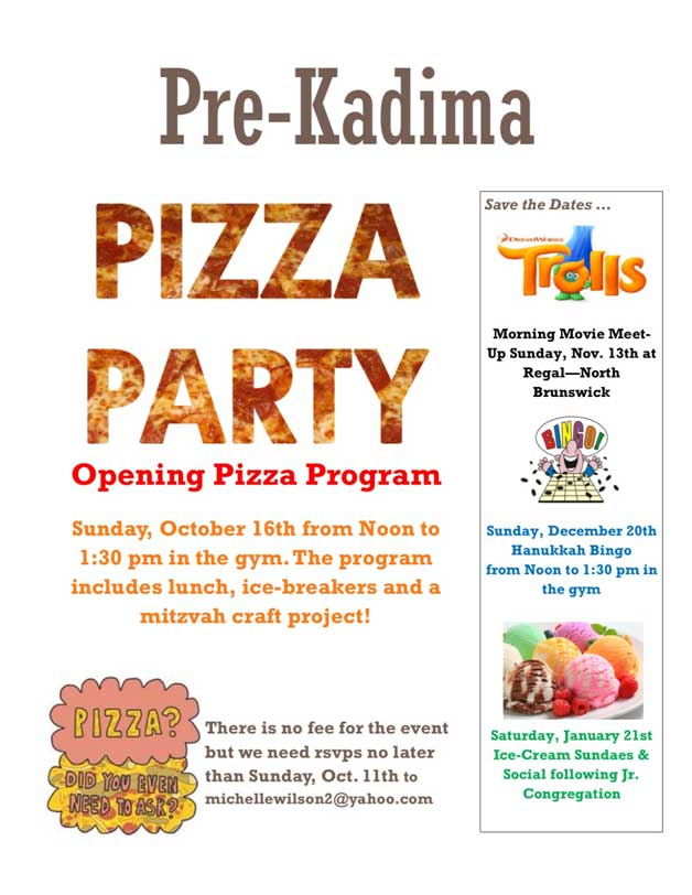 Pre Kadima Pizza Party