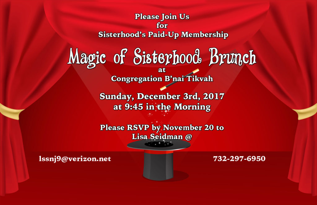 Sisterhood Paid Up Membership Brunch @ Social Hall